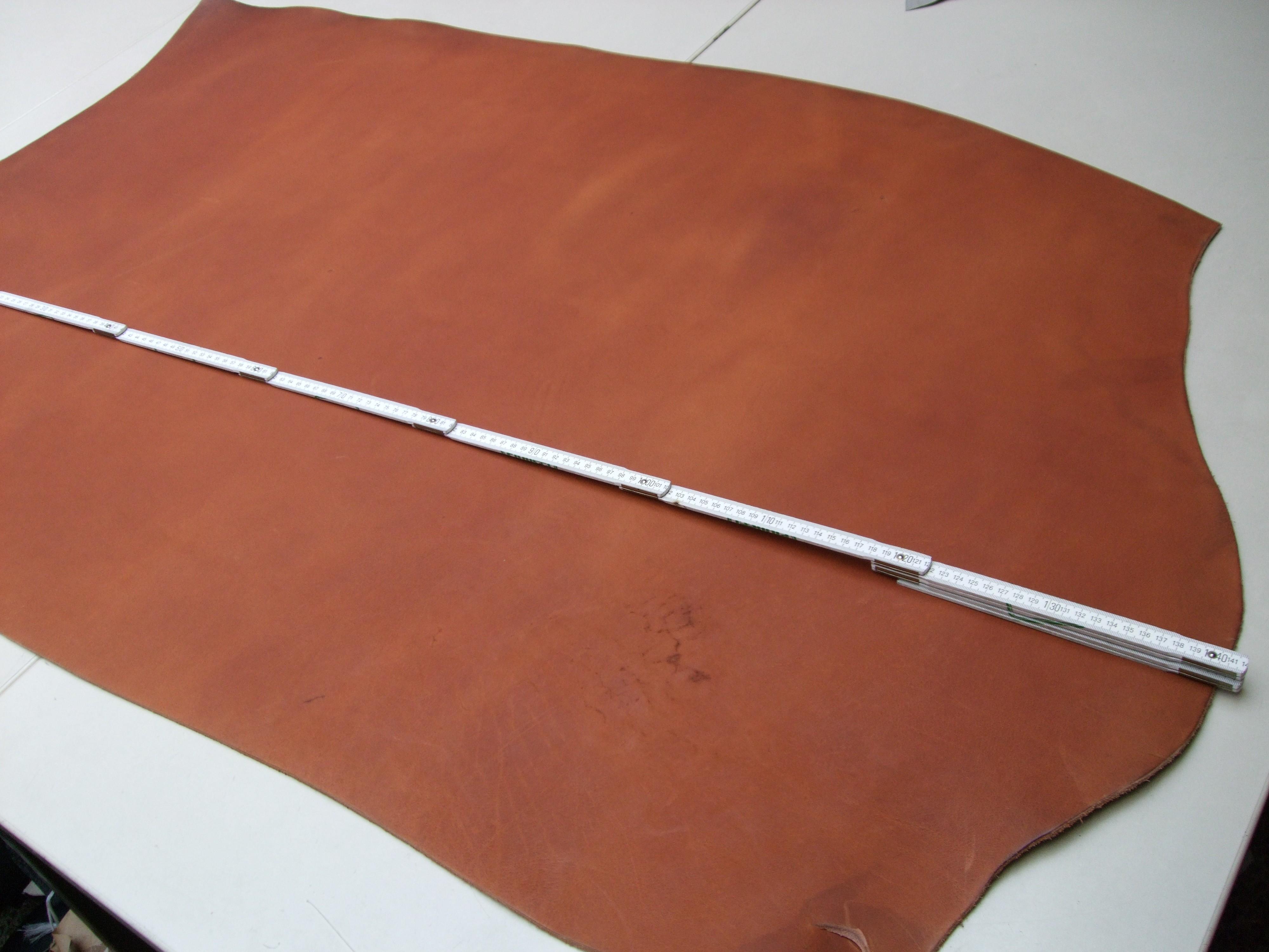Wasserbüffelcroupon, matt cognac 3,5 mm (EC2036C)