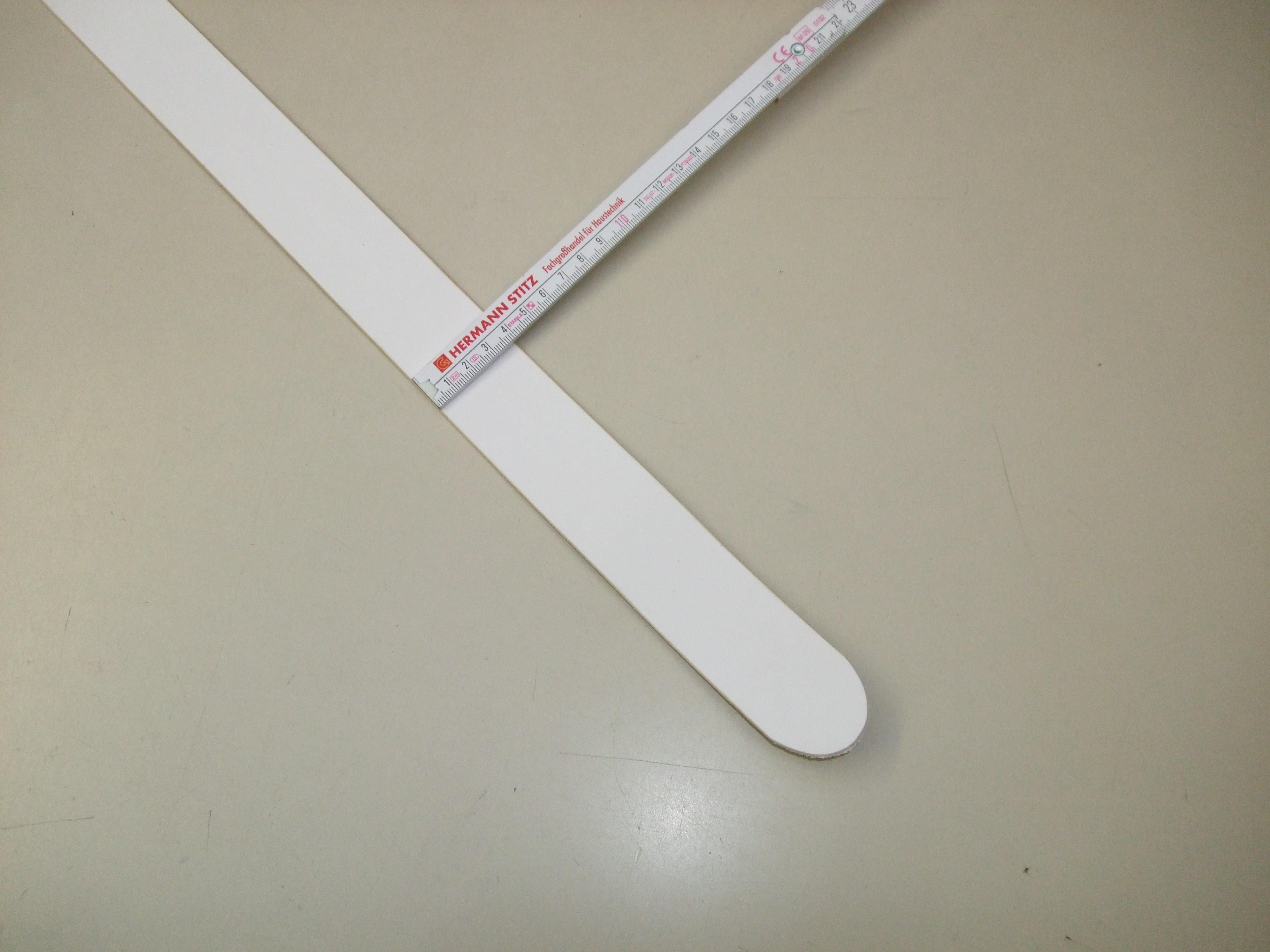 Vollrindgürtelstreifen weiß fest (GÜ17)