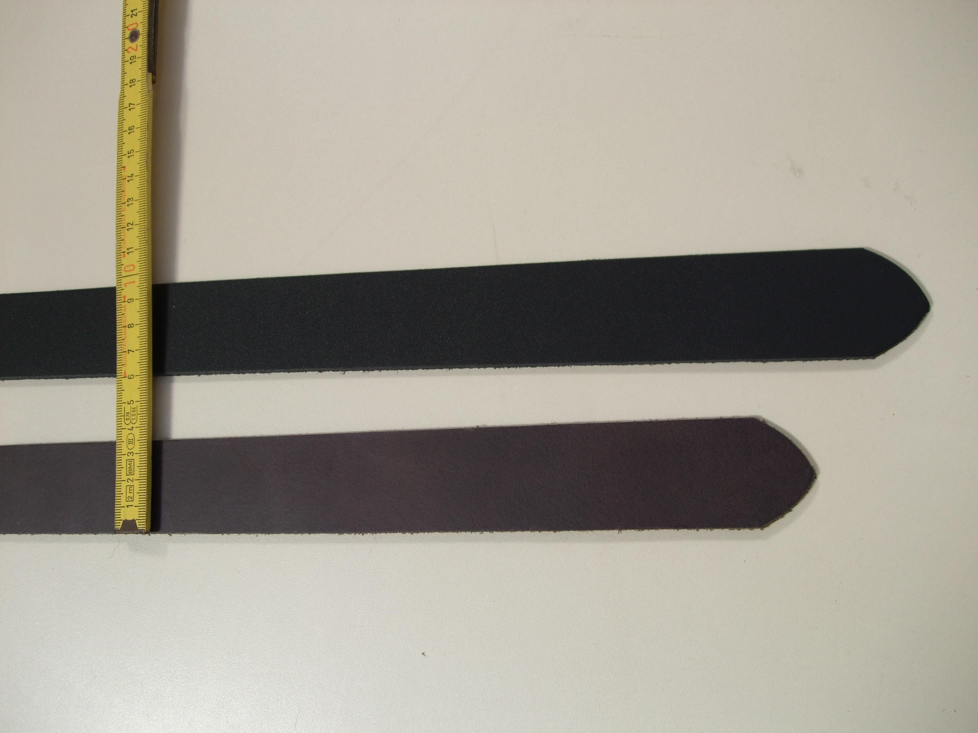 Spaltgürtelstreifen 3,5 cm. Schwarz und dunkelbraun. 1G35