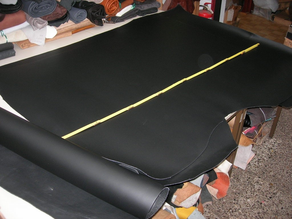 Spaltlederdoppelcroupon, schwarz 2,0 -2,2 mm (E203150) Bestellware