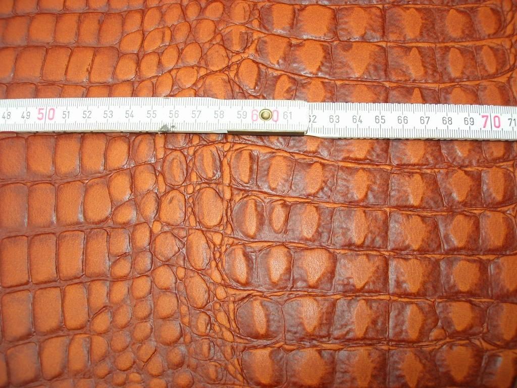 Wasserbüffelcroupon cognac Krokoprägung 3mm (EC2039KC)