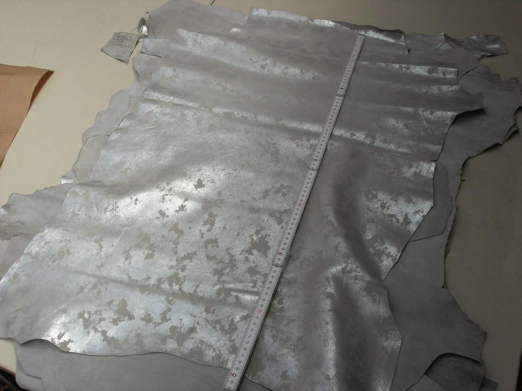 Ziegennappa silber-wolkig 1,0 mm (O1913KSW)