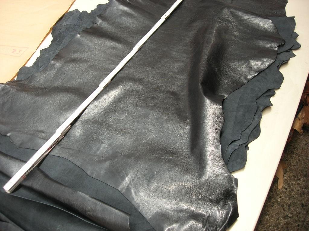 Ziegenleder schwarz 0,9-1,0 mm (O1913KZS)