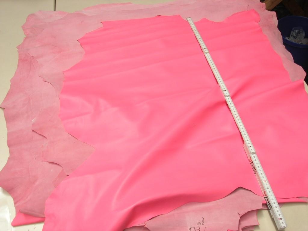 Lammnappa rosa 0,8 mm (O1817P) 1.Sortiment gedeckte Zurichtung. Farbe ähnlich Ral3017