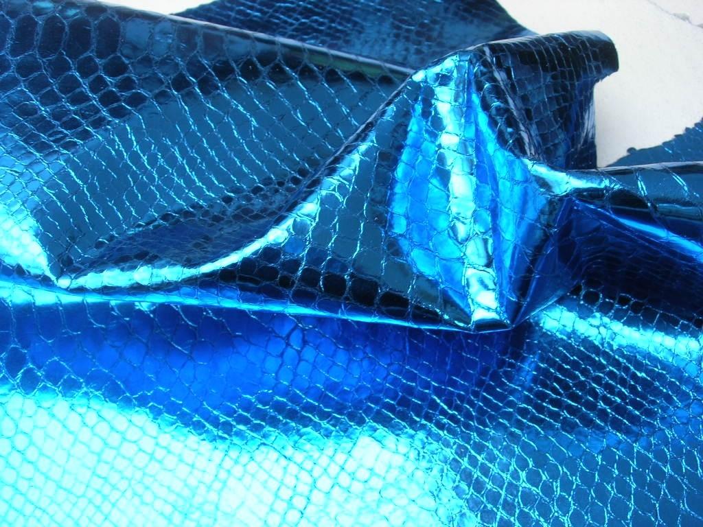 Kalbhälften blau-kroko-spiegelglanz 1,0 mm (O1317MB)