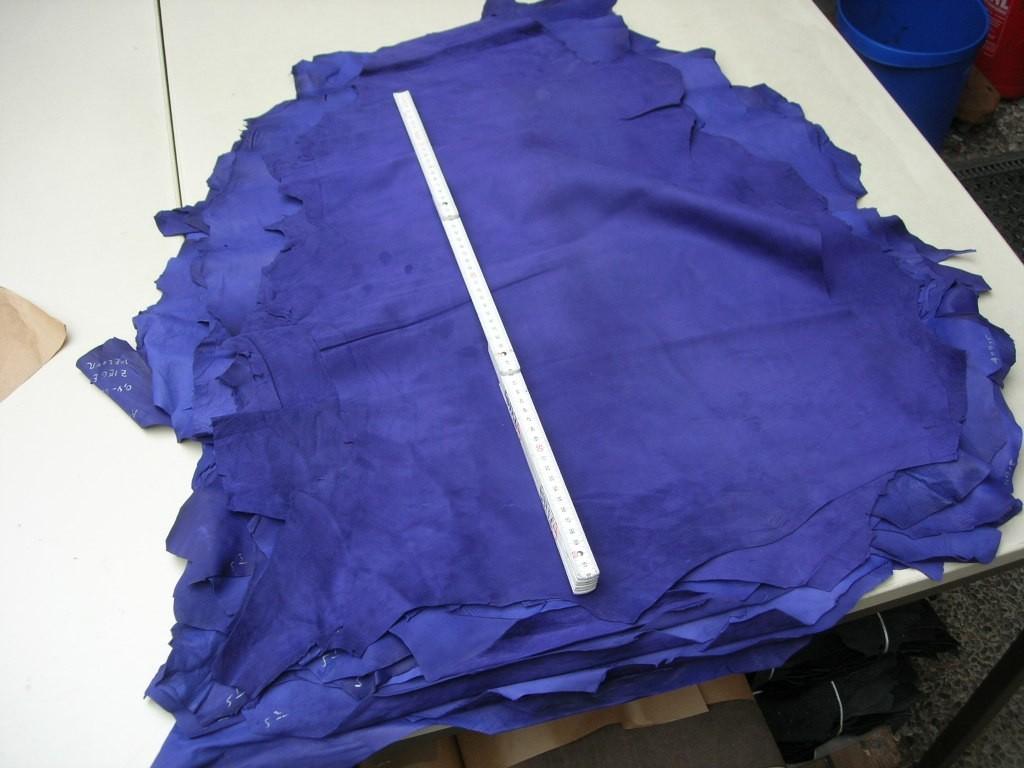 Ziegenvelour blau lila 0,4-,05mm (A1915LB)  Färben ab
