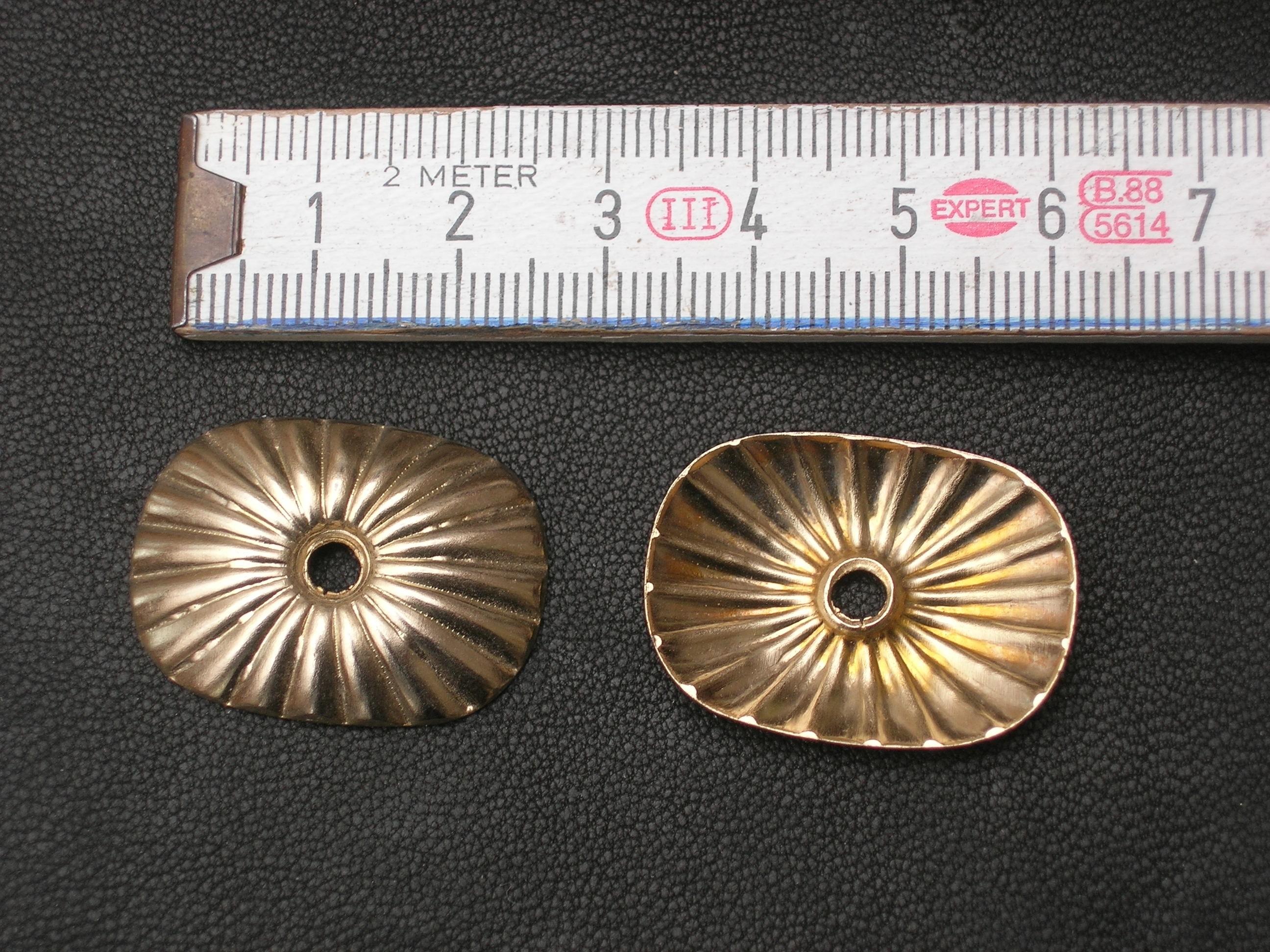 Zierteil Muschelblech gold (SS1310KMBG)
