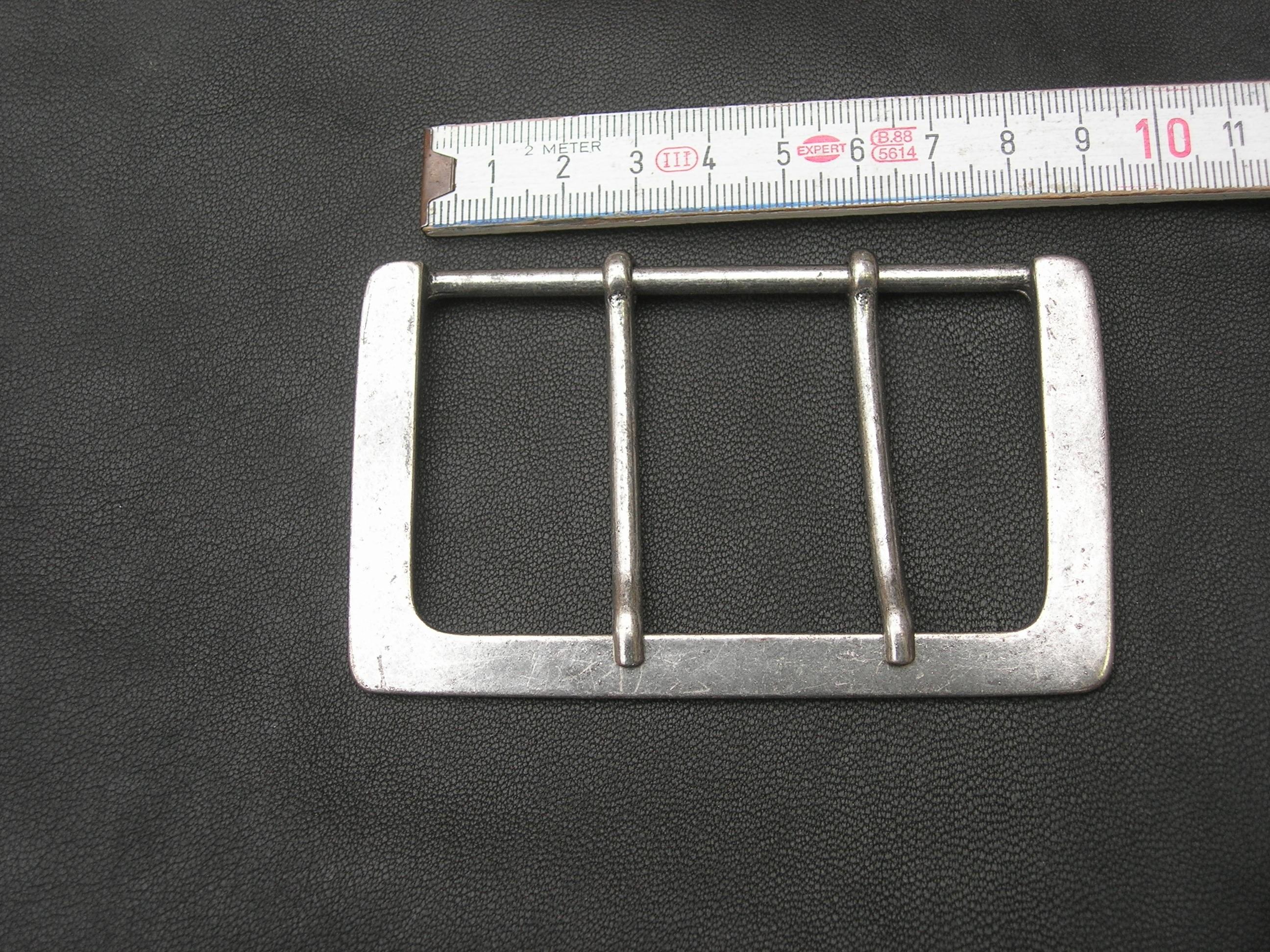 Halbschnalle 8,0 cm alteisen (BZ09AE)