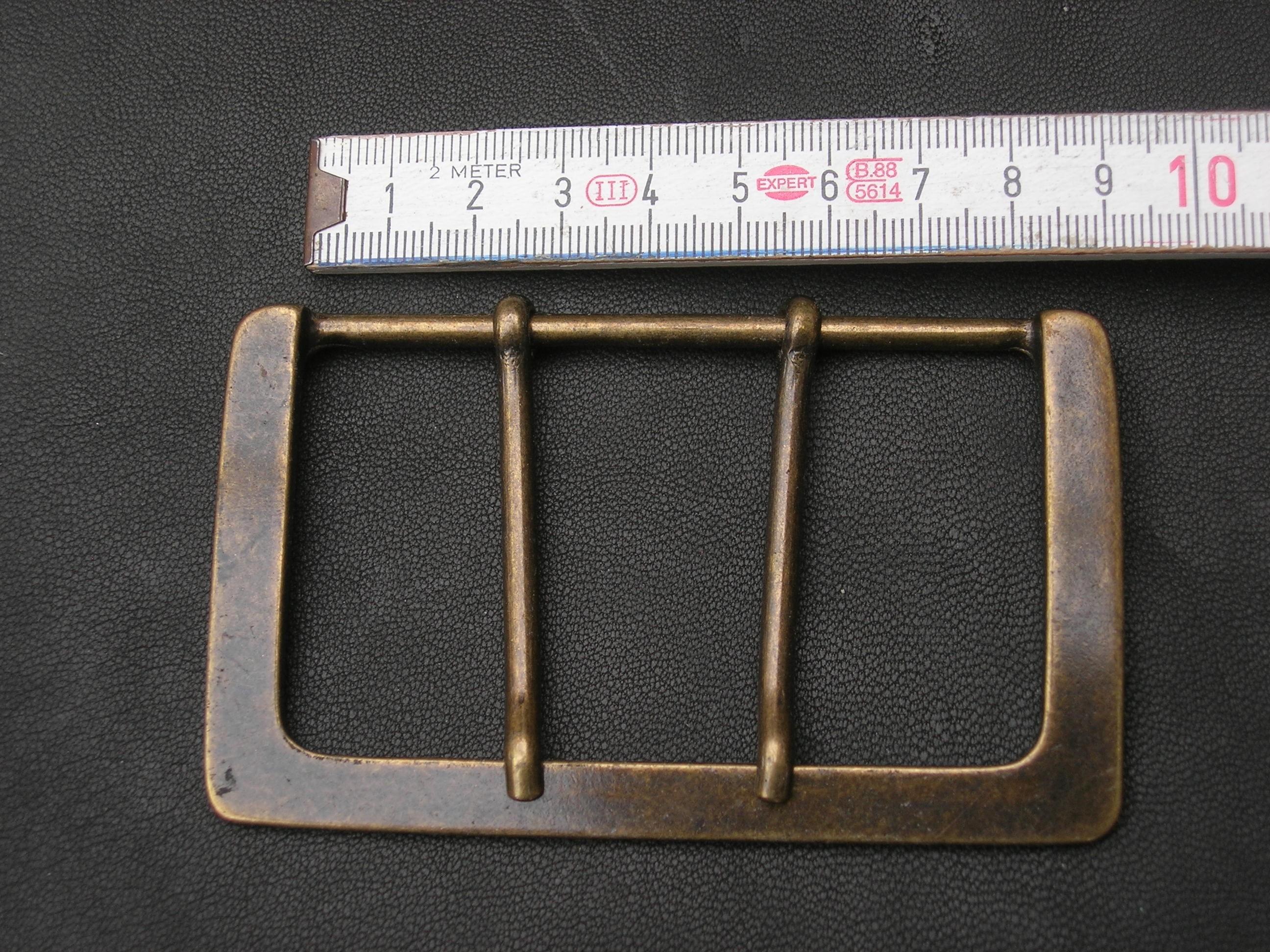 Halbschnalle 8,0 cm altmessing (BZ09AM)