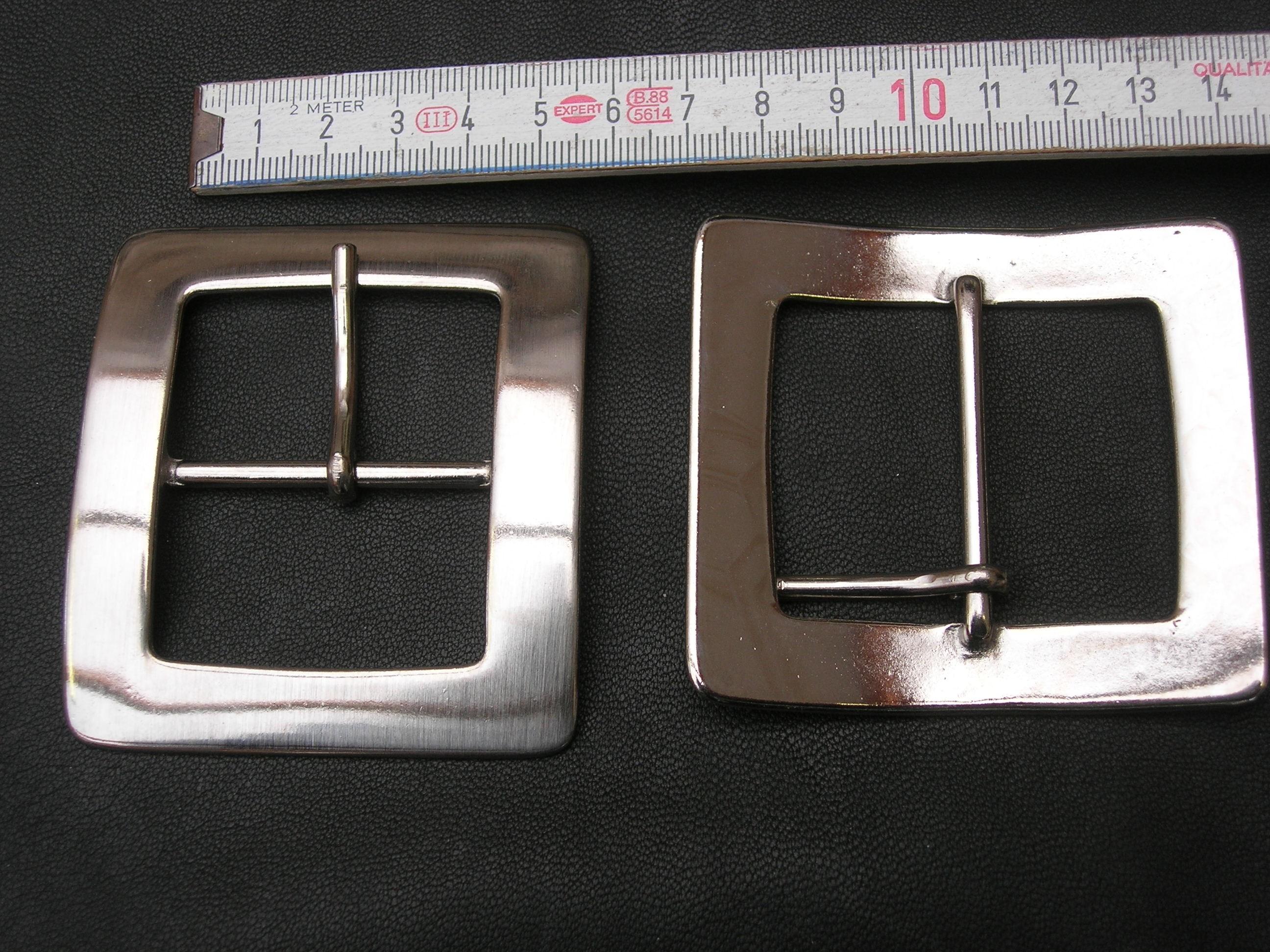 Doppelschnalle 4,0 cm (BZ13DN) nickelfrei.