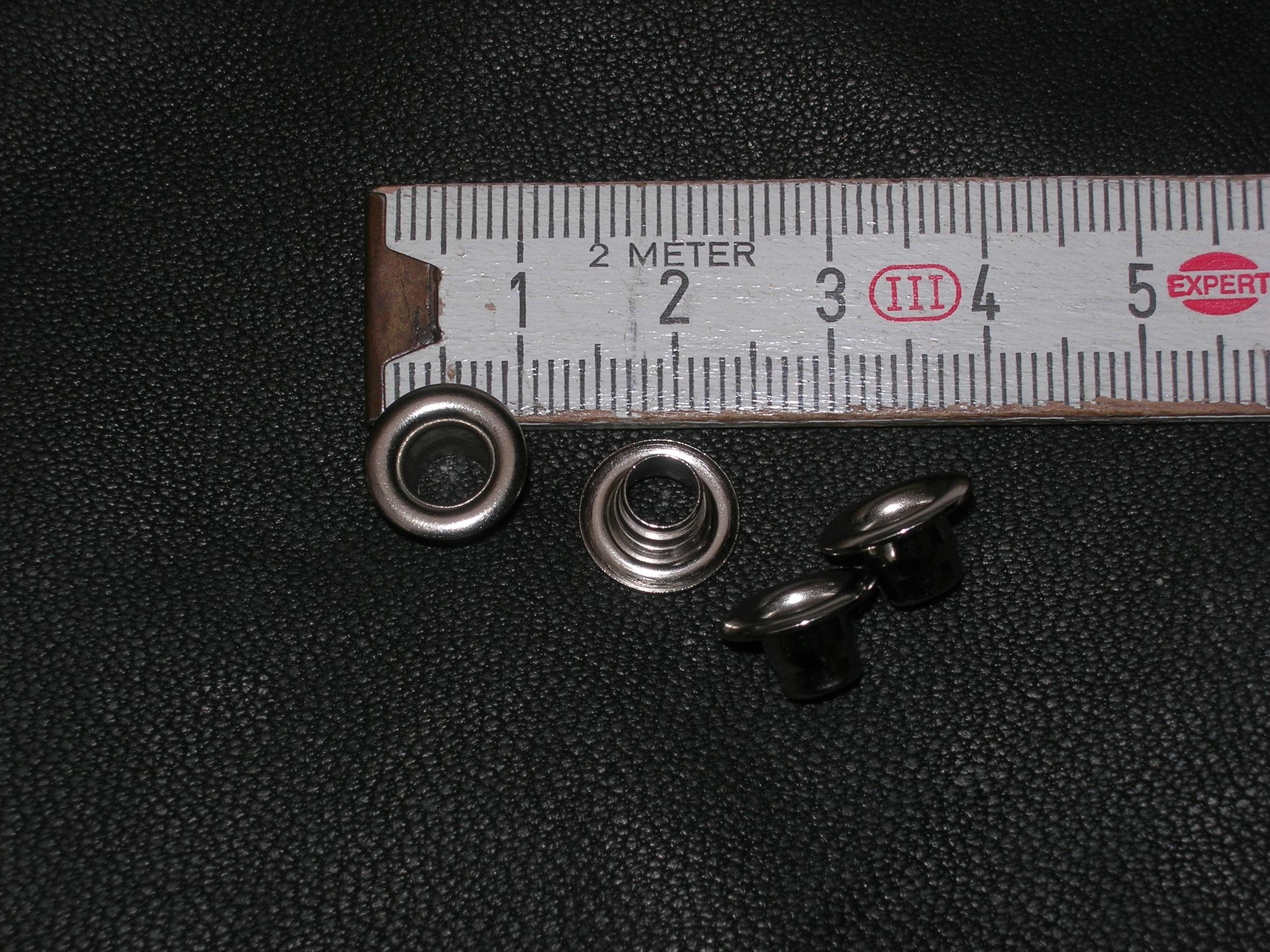Ösen 5,0 mm massiv messing vernickelt