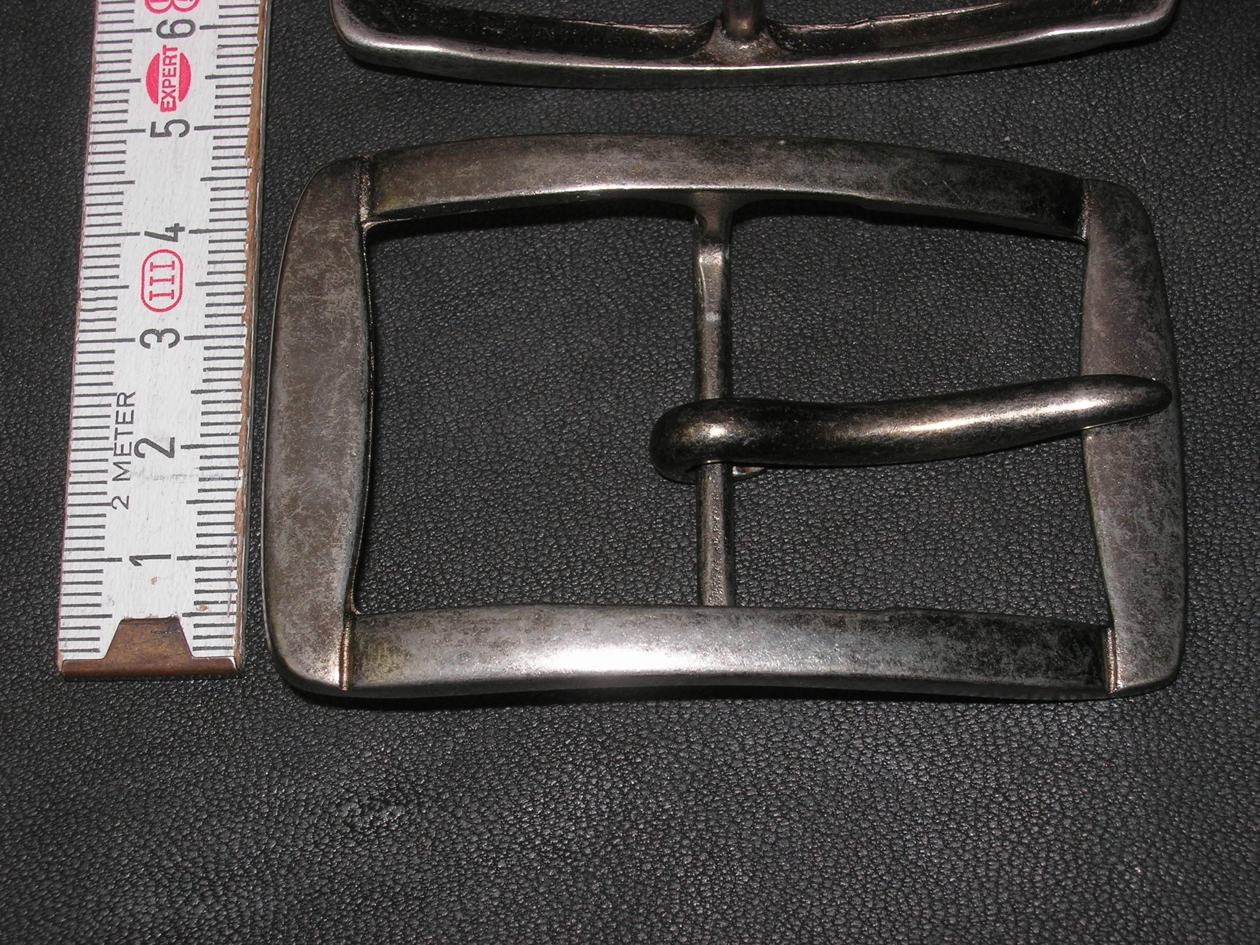 Doppelschnalle 3,5 cm nickelfrei alteisen (BZ14DSA)  Zur Zeit ausverkauft