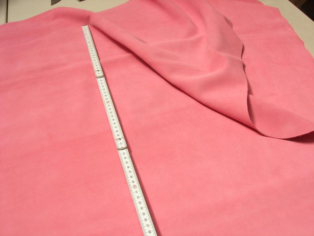 Rindspaltvelour rosa (O1013SPR1) 1,5 mm
