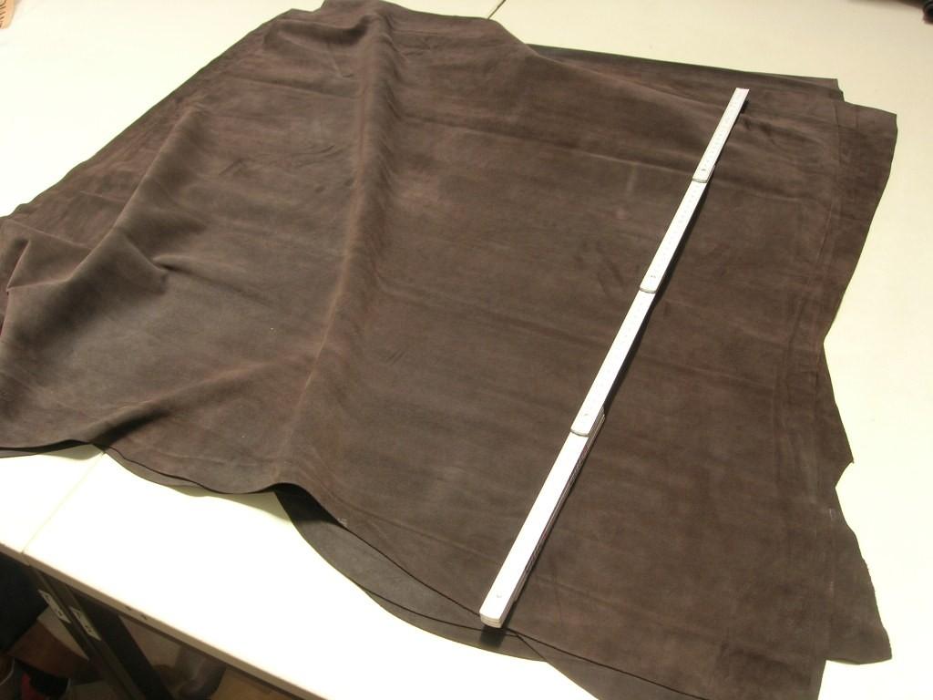 Rindspaltvelour dunkelbraun (O1813SPB) 1,3 mm