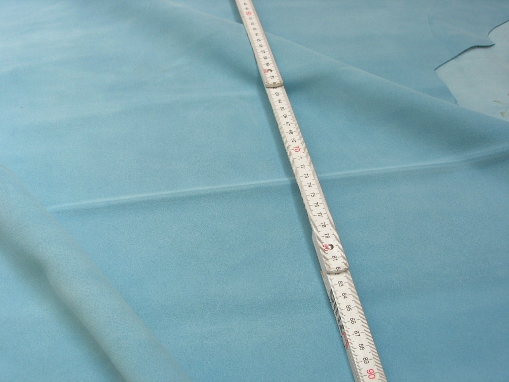 "Rindspaltvelour hellblau ""Azur"" (O1013SPHB) 1,4 mm"
