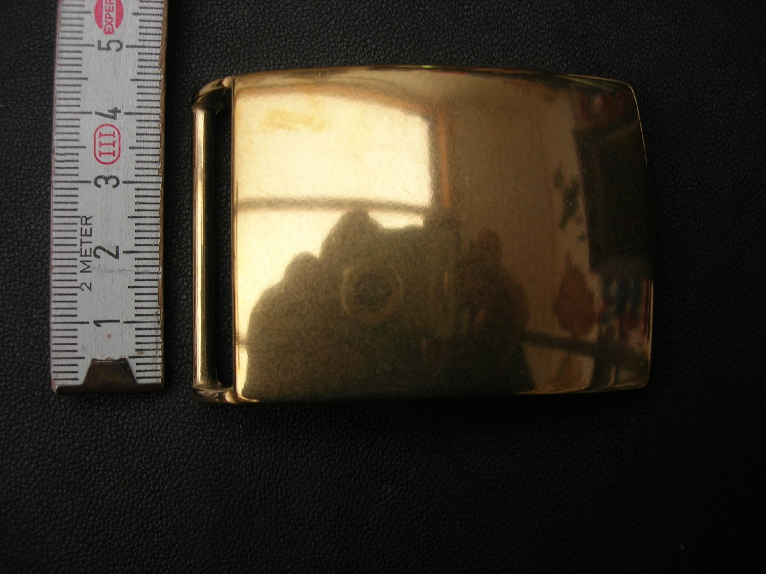 Koppelschnalle massiv messing poliert 4 cm (KS4MP)