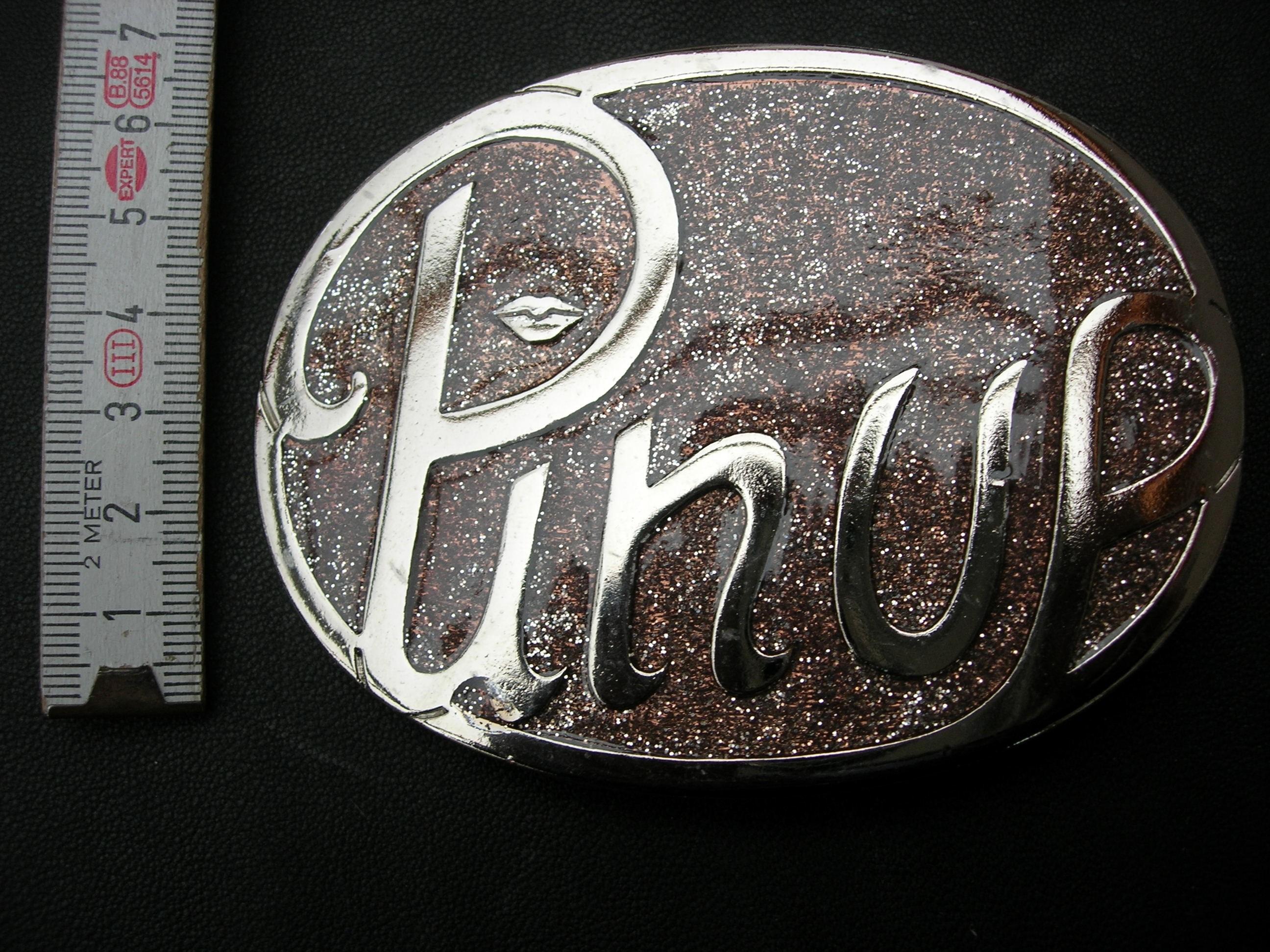 """Koppelschnalle 4 cm """"Pin up"""" Glitterlack (KSPU)"""