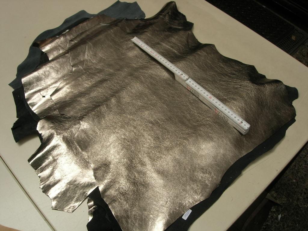 Ziegenleder Chevreaux gold silber 0,6mm (O1913KZGO)