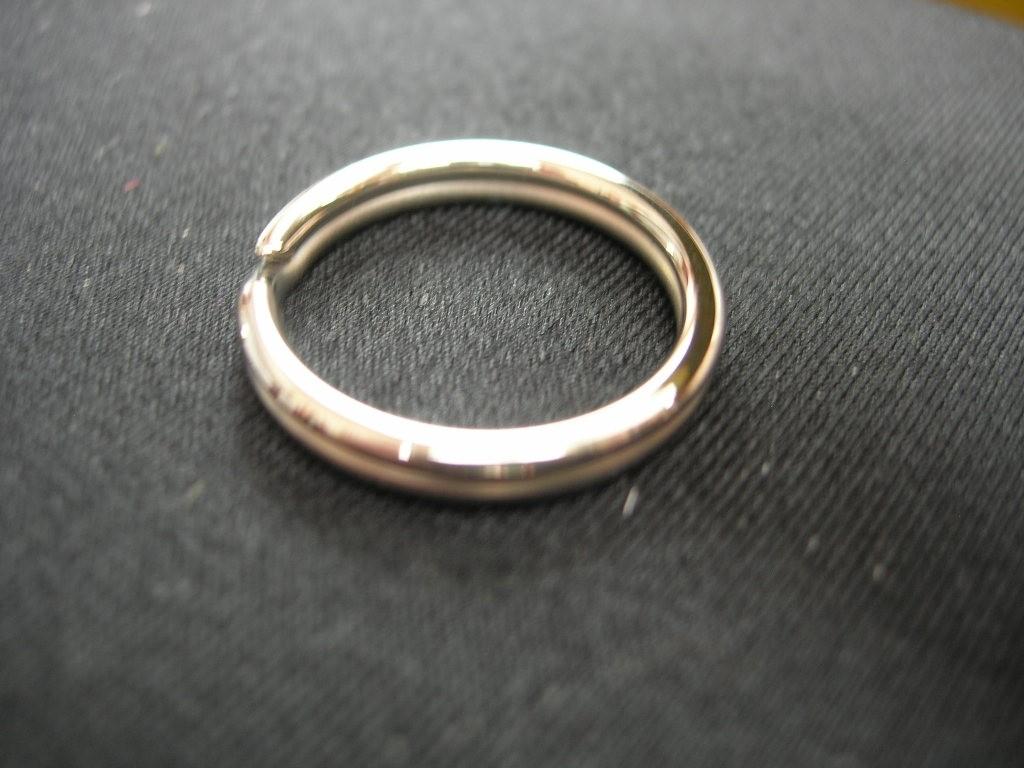 16mm Schlüsselringe (SR60607/16) Eisen vernickelt