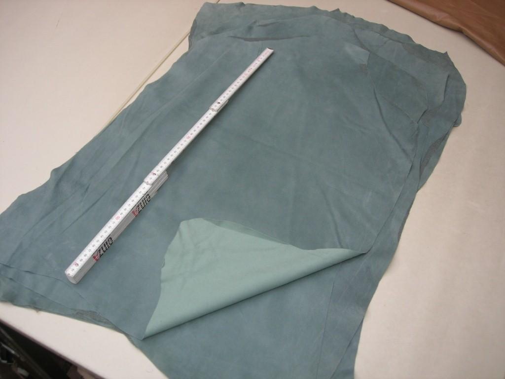 Ziegenstretchvelour blasstürkis (AK2115KST) 0,5-0,6mm