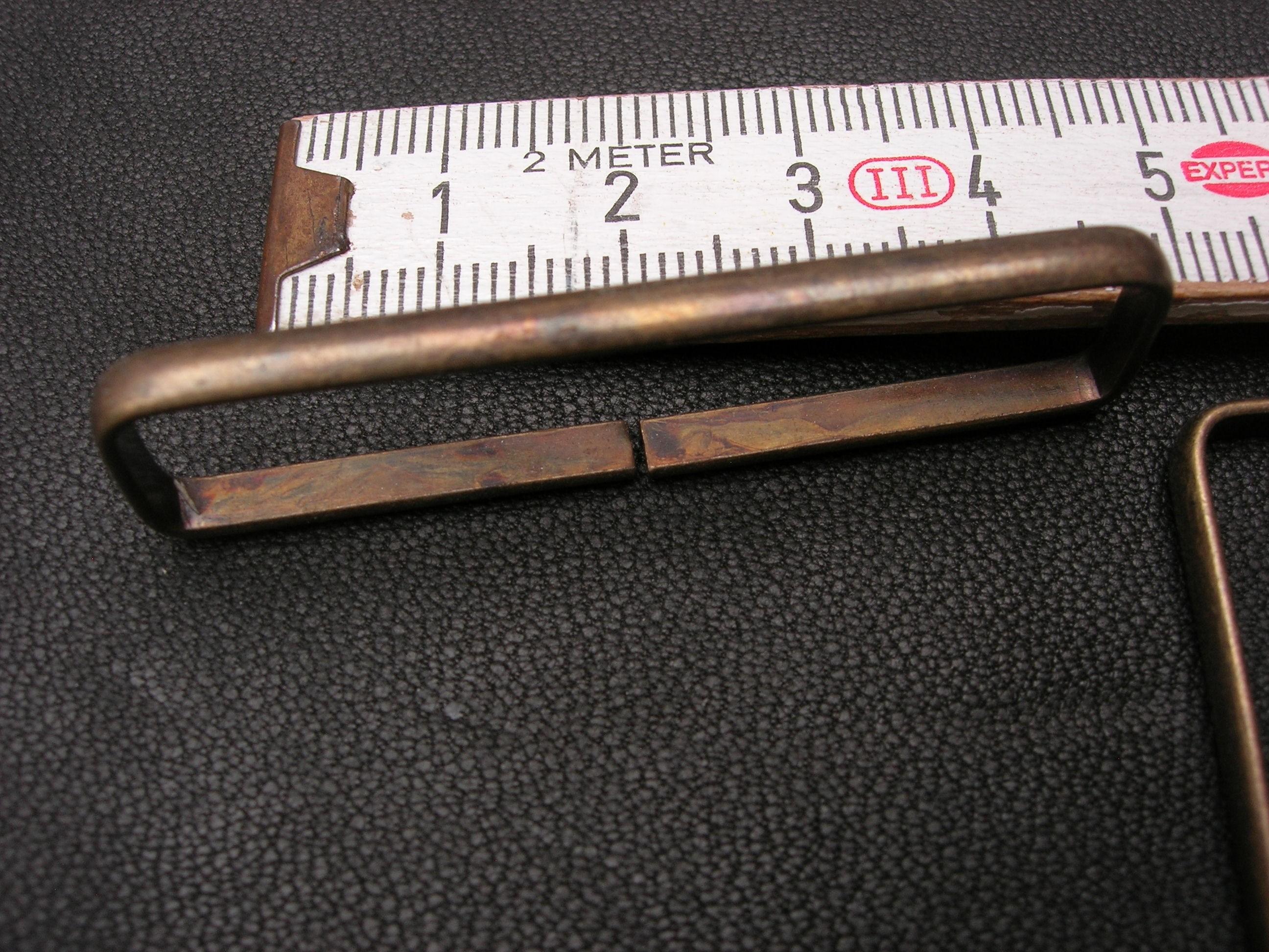 Schlaufen 5,0 cm altmessing (58/50)