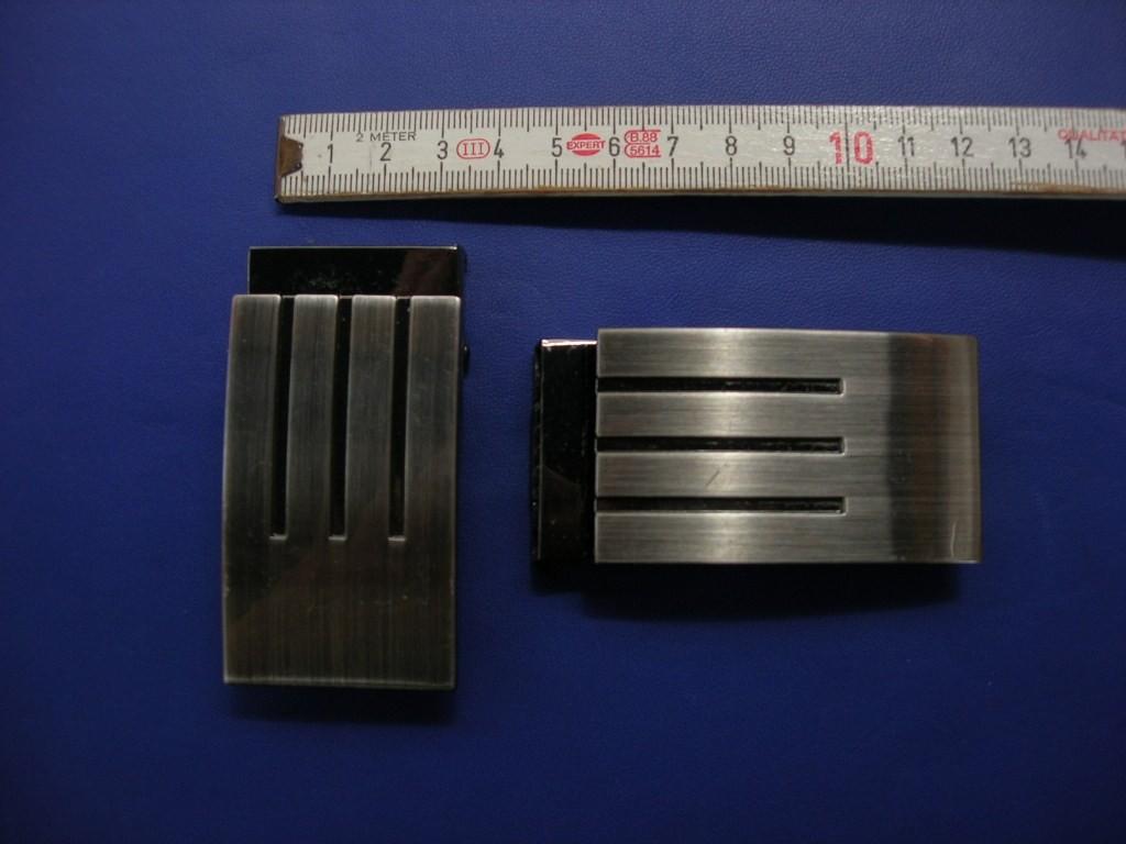 Koppelklemmschnalle 3,5 cm gebürstet (E19K9)