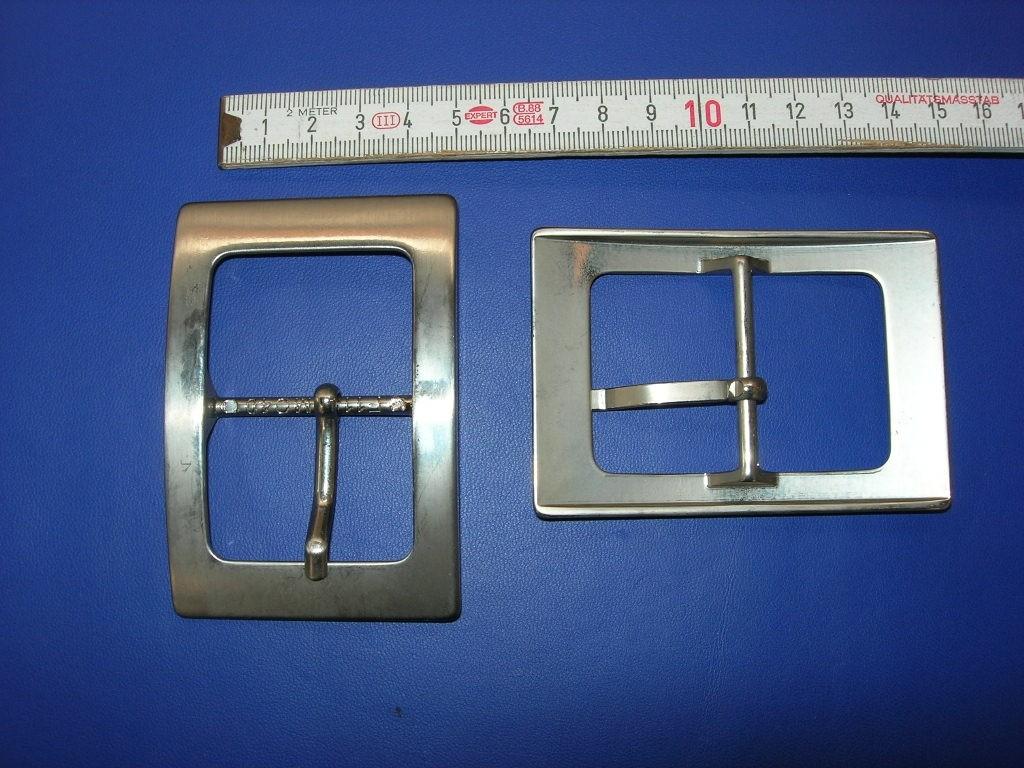 Doppelschnalle 4,0 cm gebürstet (BA1440)