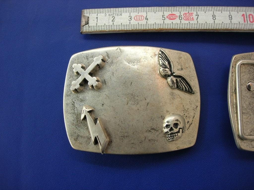 Koppelschnalle 4,0 cm altsilber (E19K15)