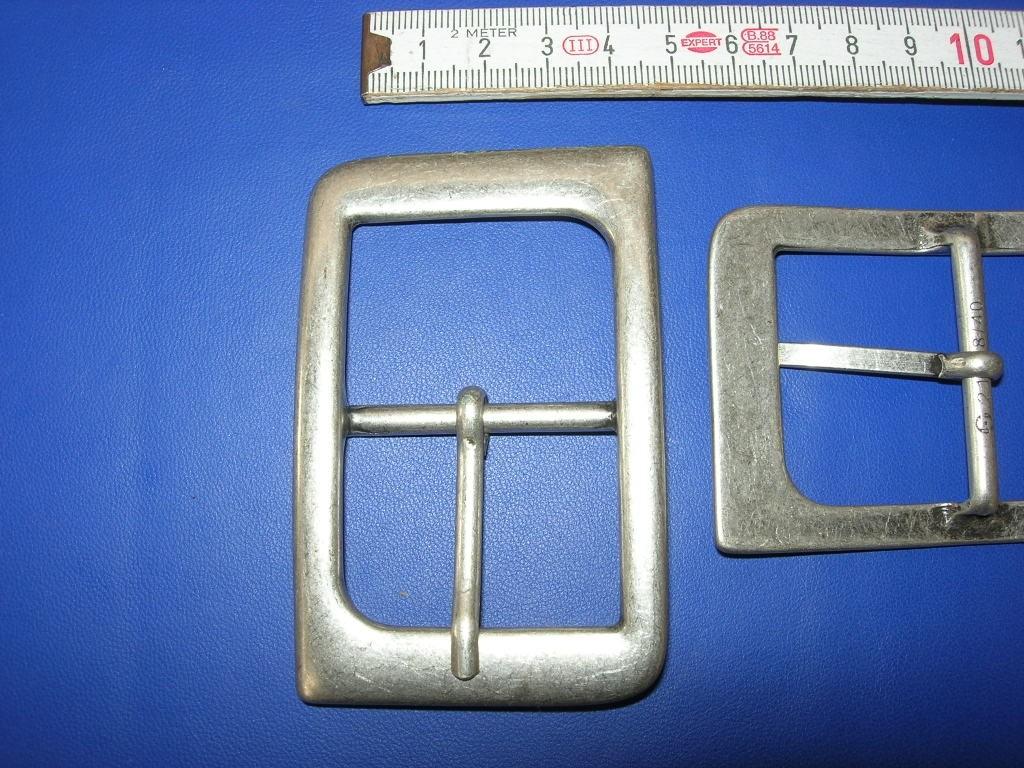 Doppelschnalle 4,0 cm altsilber (E19K22)
