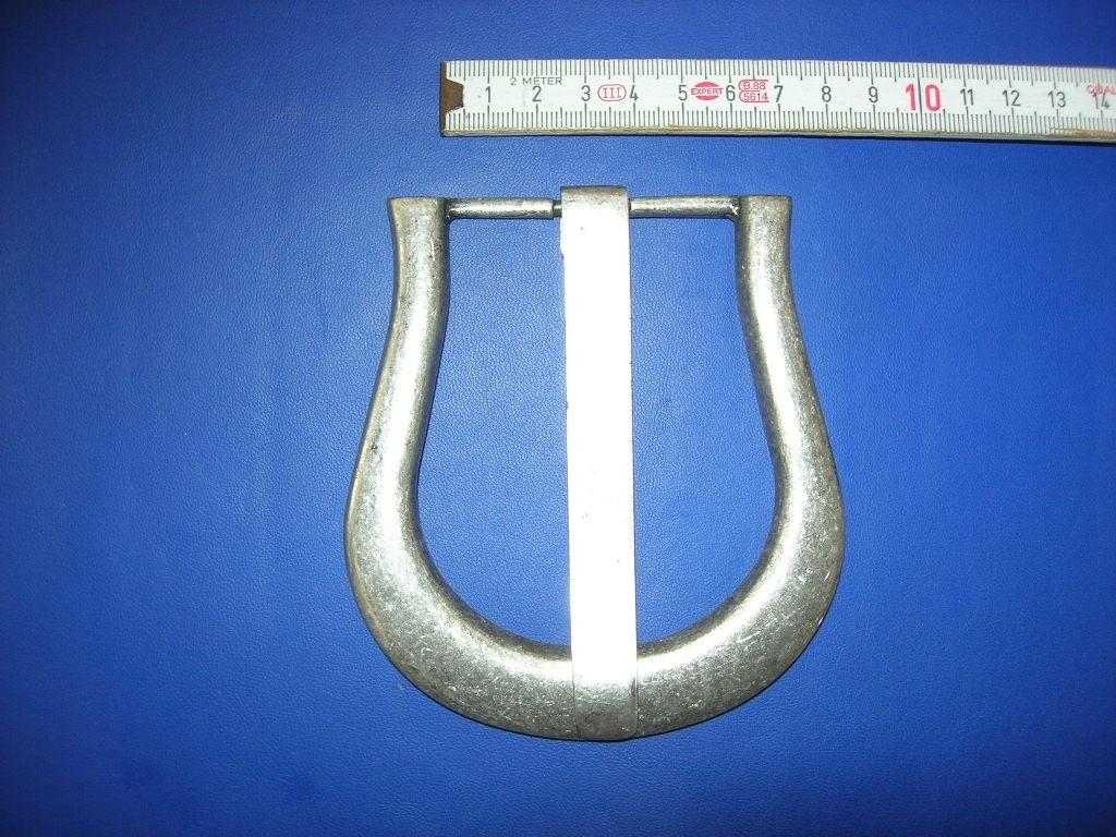 Halbschnalle 6,0 cm altsilber (E19K19)