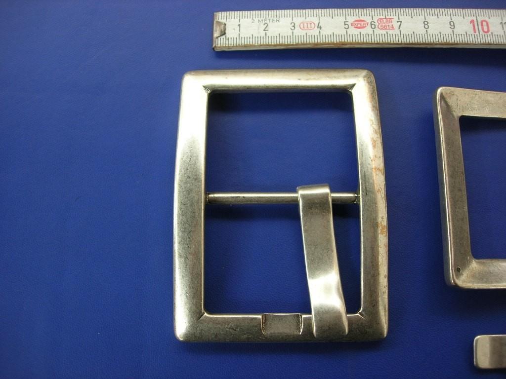Doppelschnalle 5,0 cm altsilber (E19K33)
