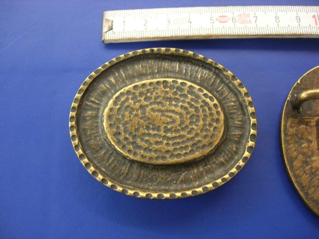Koppelschnallen 4,0 cm altmessing (E19K32)