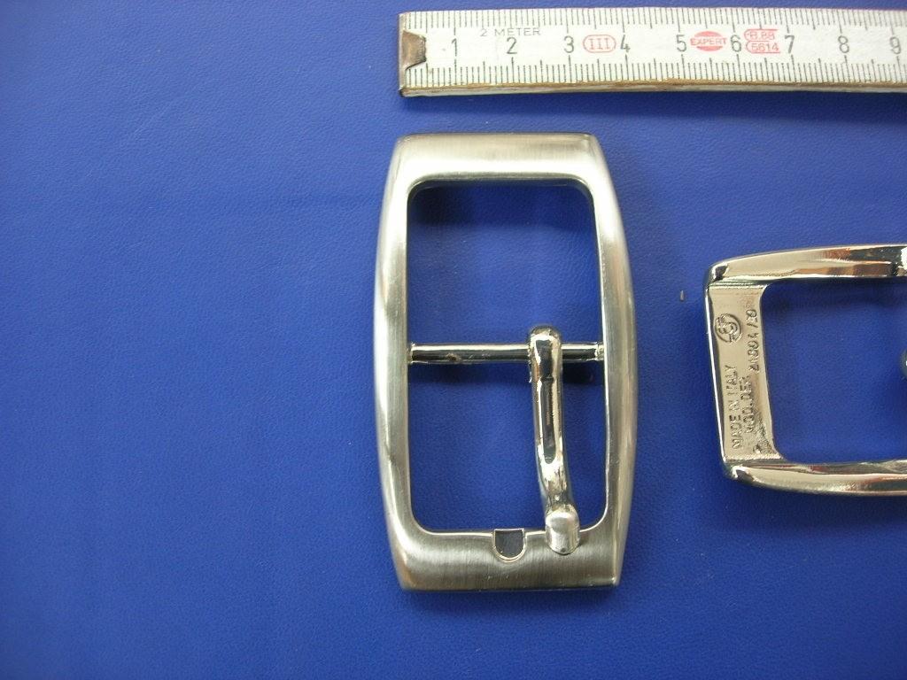 Doppelschnalle 3,0 cm gebürstet (E19K28)