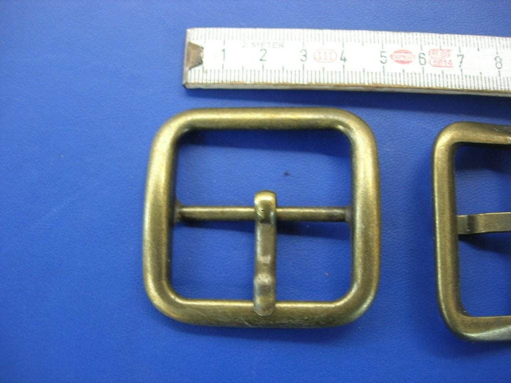 Doppelschnalle 4,0 cm altmessing (E19K45)