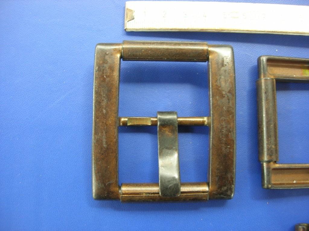 Doppelrollschnalle 4,0 cm altkupfer (E19K52)