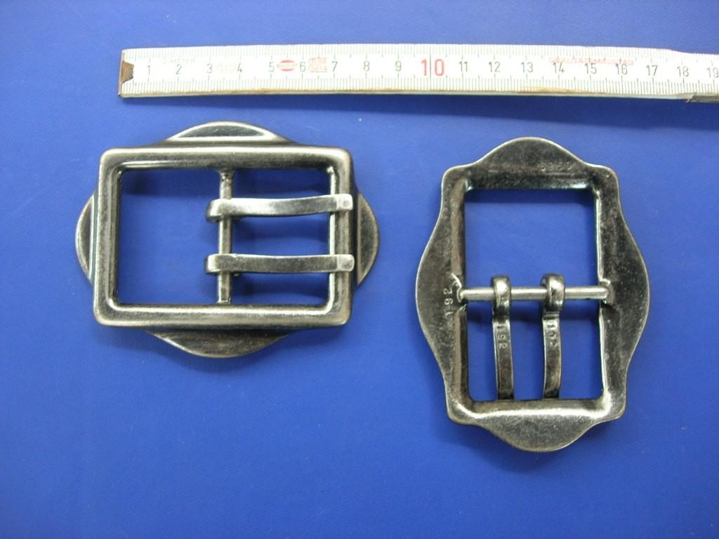 Doppeldornschnalle 4,0 cm bronziert (E19K51)