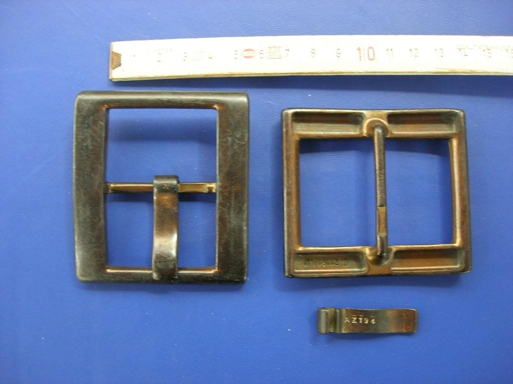 Doppelschnalle 4,0 cm altkupfer (E19K49)