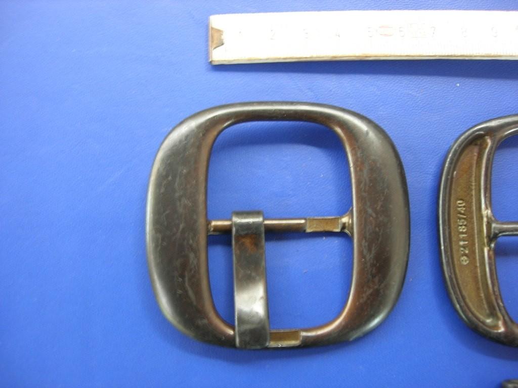 Doppelschnalle 4,0 cm altkupfer (E19K48)