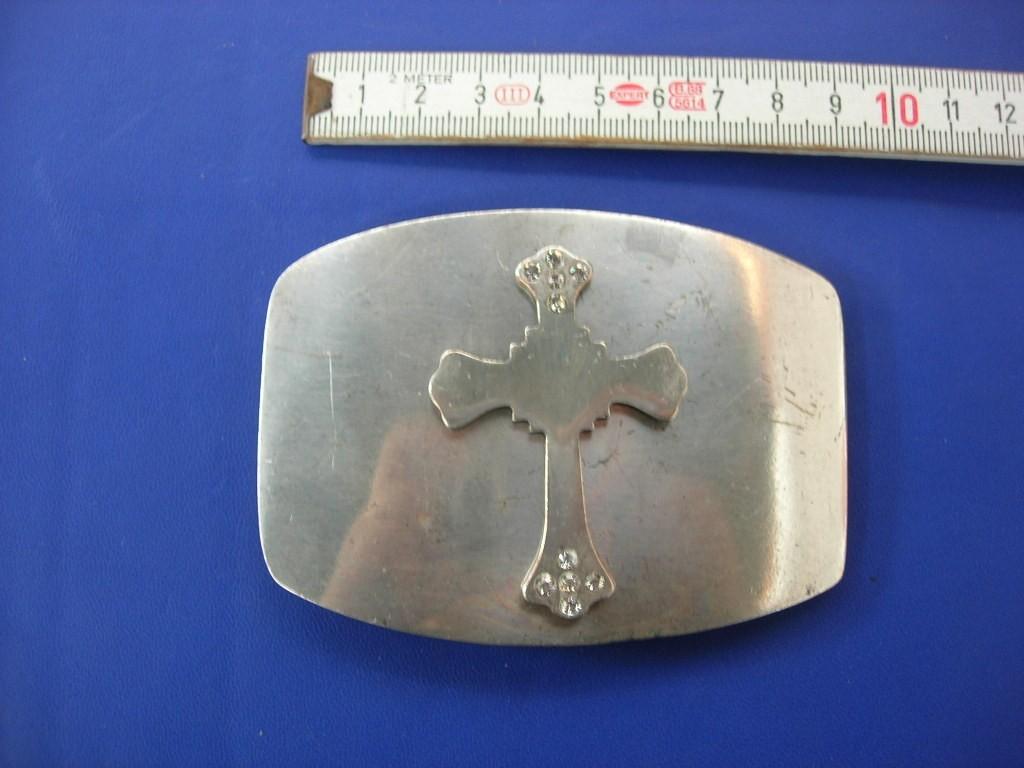 Koppelschnalle 4,0 cm uset-silver mit Strass (E19K65)