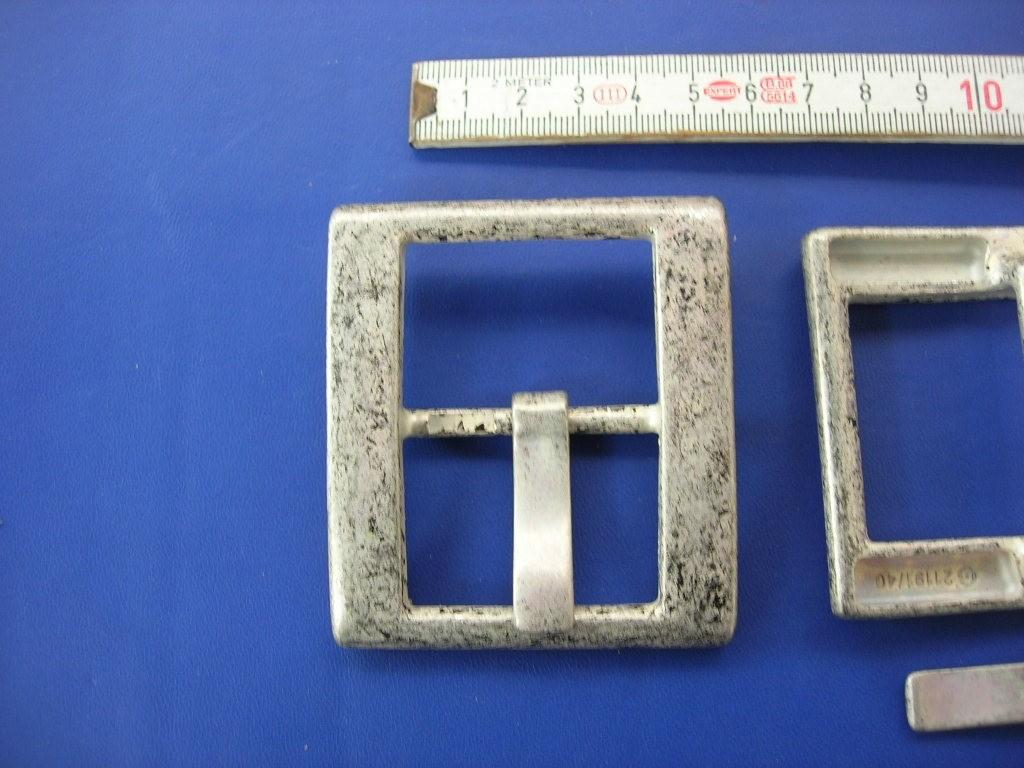 Doppelschnalle 4,0 cm altsilber (E19K64)