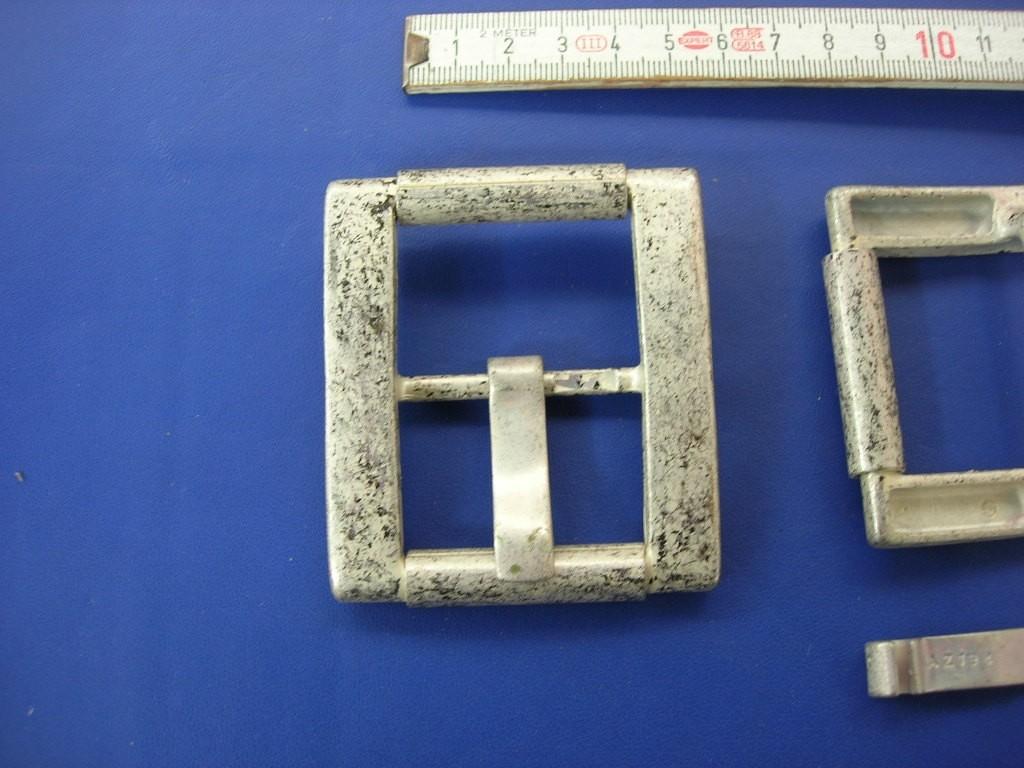 Doppelrollschnallen 4,0 cm altsilber (E19K60)