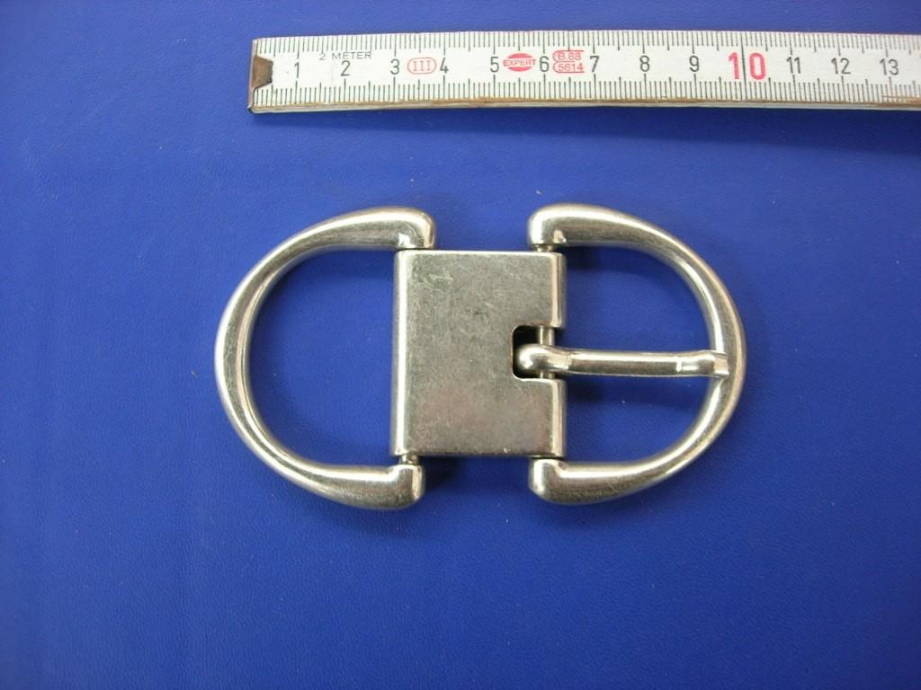 Doppelschnalle 4,0 cm altsilber (E19K59)