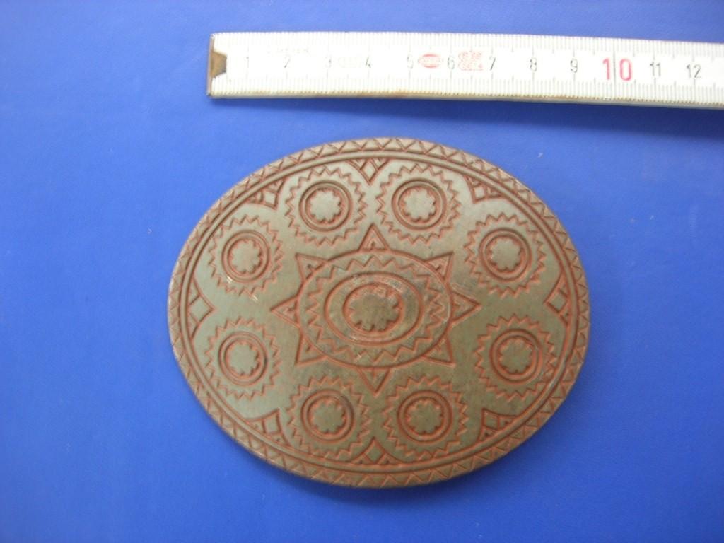 Koppelschnallen 4,0 cm altkupfer (E19K69)