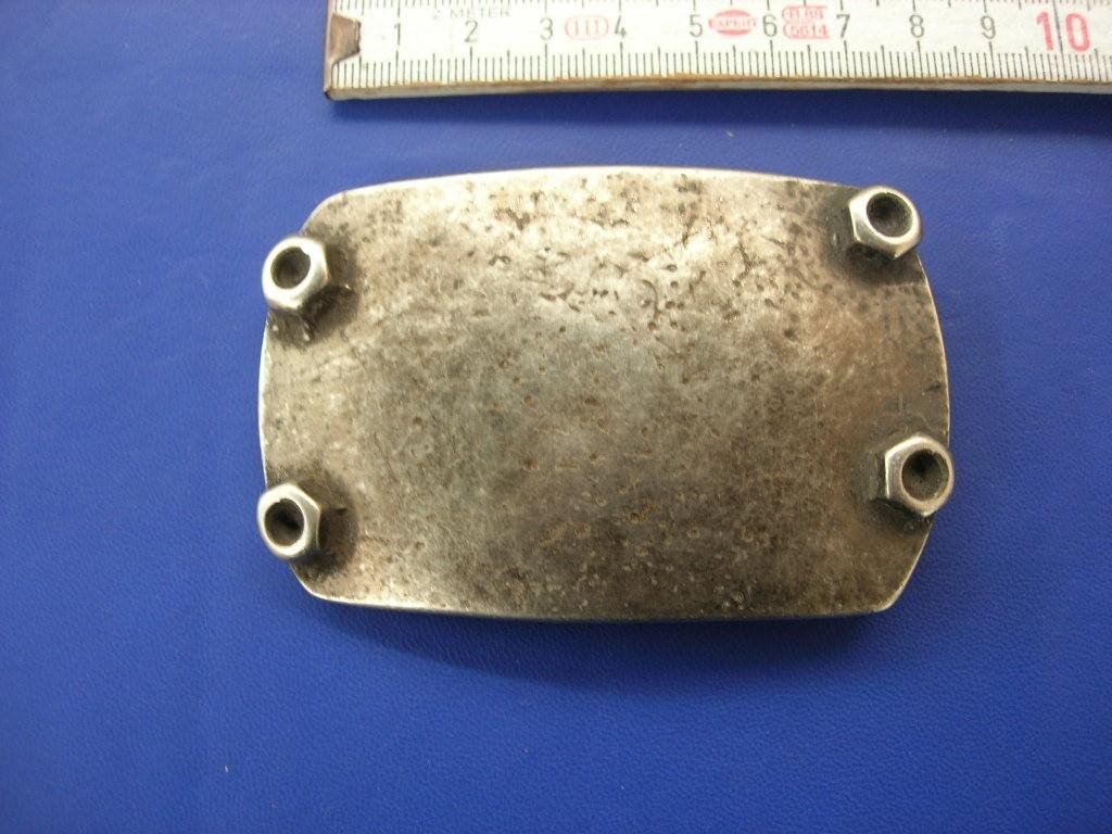 Koppelschnalle 4,0 cm altsilber (E19K79)