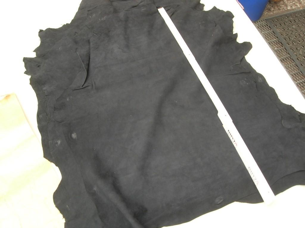 Ziegenvelour schwarz blau 0,6mm (M1210KZ)