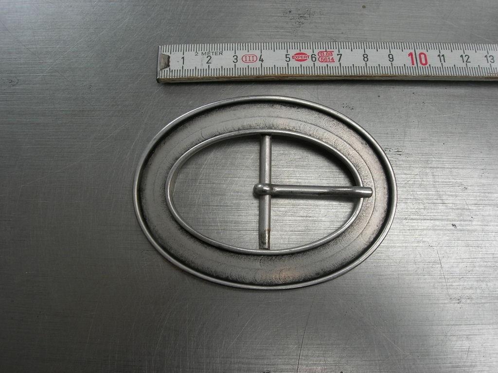 Doppelschnalle 4,0 cm altsilber (E19K88)