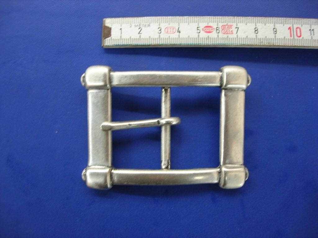 Doppelschnalle 4,0 cm altsilber (E19K103)
