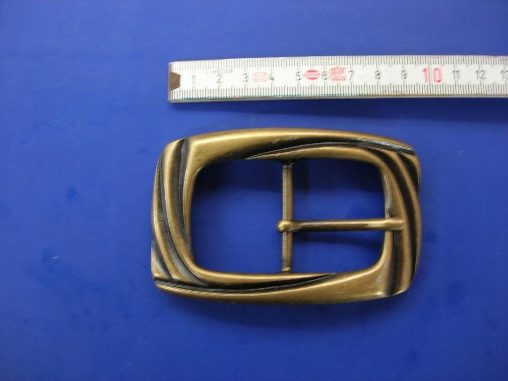 Doppelschnalle 4,0 cm altmessing (E19K99)