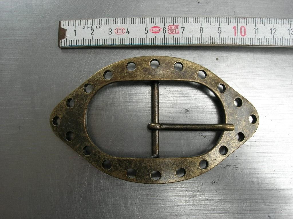 Doppelschnalle 4,0 cm altmessing (E19K120)