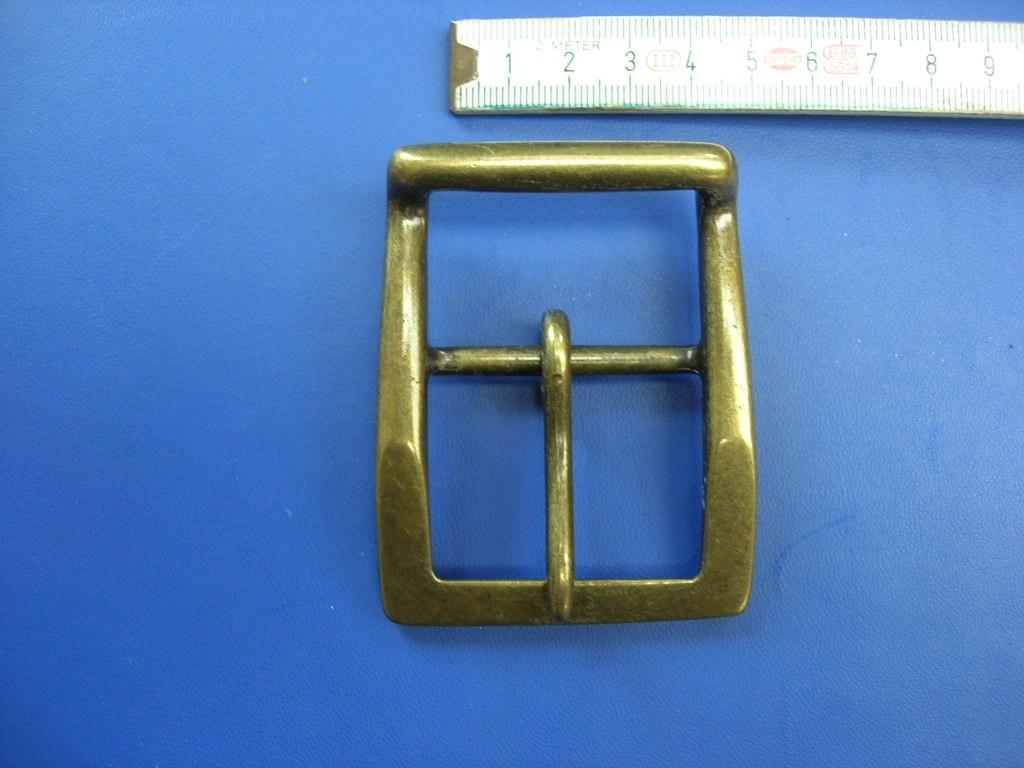 Doppelschnalle 4,0 cm altmessing (E19K106)
